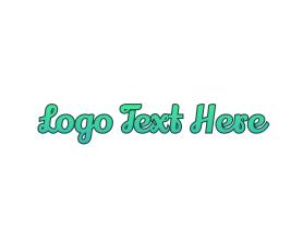 Travel - Fresh Cursive Wordmark Text logo design