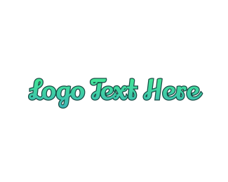 Surfing - Fresh Cursive Wordmark Text logo design