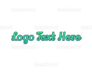 Aqua - Fresh Cursive Wordmark logo design