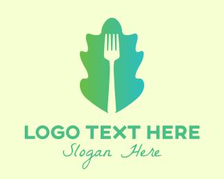 Eating - Vegetarian Dining Fork logo design
