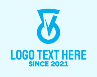 Keyhole - Blue Keyhole Security logo design