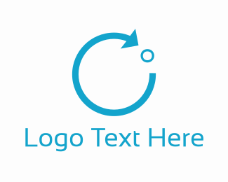 Complete - Blue Circle Arrow logo design