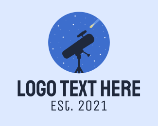 Stars - Star Gazing  Telescope logo design