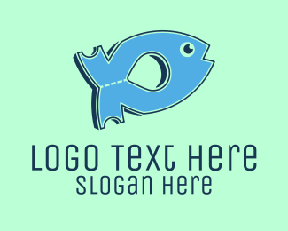 Fishery - Fish Ticket logo design