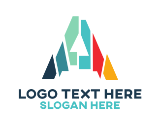 Tagline - Mosaic Letter A  logo design