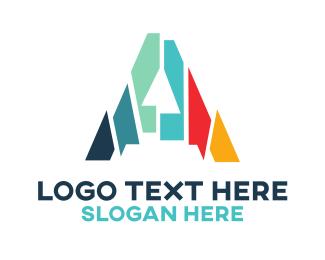 Cut - Mosaic Letter A  logo design