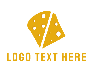 Slice - Yellow Cheddar Cheese  logo design