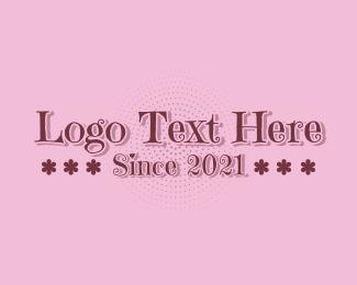 Word - Whimsical Flower Wordmark logo design