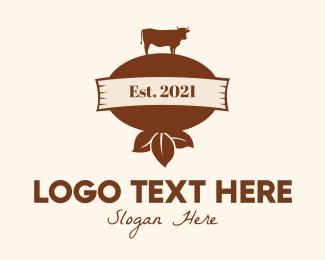Meat Store - Brown Dairy Farm logo design