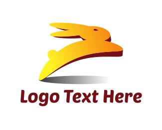 Hare - Rabbit Hop logo design
