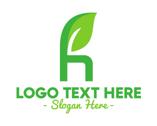 Renewable - Herbal Letter H logo design