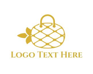 Purse - Pineapple Bag logo design