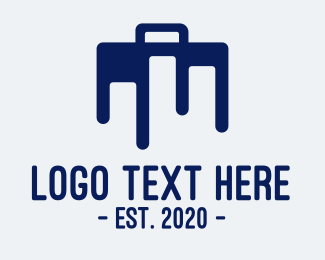 Tradesman - Blue Briefcase Luggage logo design
