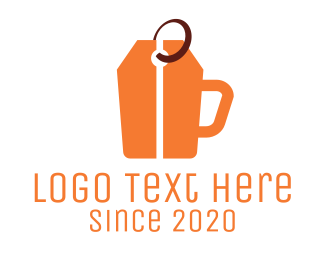 Coffee Cup - Price Tag Cup logo design