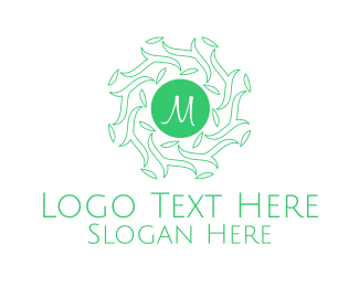 Forest - Forest Leaves Lettermark logo design