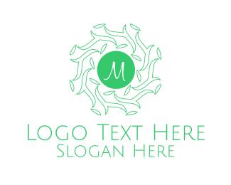 Branches - Forest Leaves Lettermark logo design