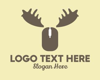 Online - Online Moose logo design