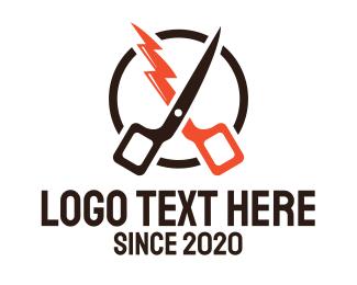 Hairdresser - Fast Barber Hairdresser logo design