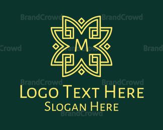 Ancestor - Elegant Flower Lettermark logo design