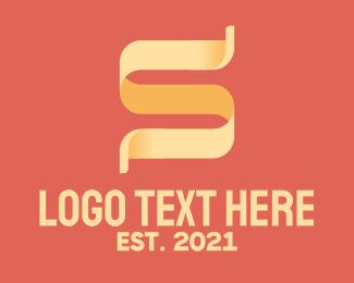 Social Media - Ribbon Letter S logo design