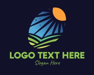 Day - Day Night Valley logo design