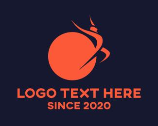 Independence - Human & Sun logo design
