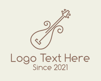Violin Teacher - Minimalist Violin Instrument logo design