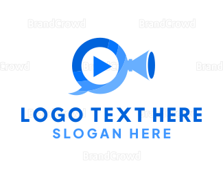 Video Player - Video Trumpet Play logo design