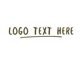 Punk - Brown Sketch Wordmark logo design
