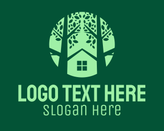 Lodge - Tree House Property logo design
