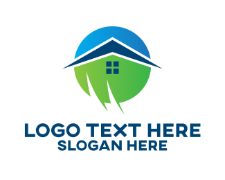 Residence - Eco Friendly Residence logo design
