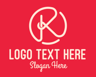 Beauty - Pink Knot Letter K logo design