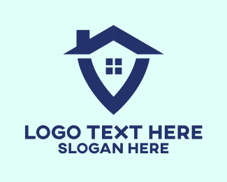 Chimney - Real Estate Shield House logo design