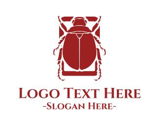 Sphinx - Red Beetle logo design