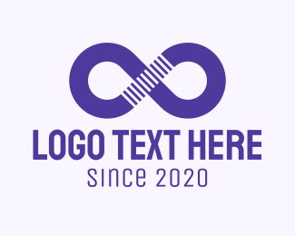 Loop - Purple Infinity Symbol logo design