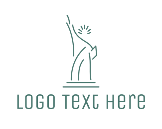 Structure - Lady Liberty Outline logo design