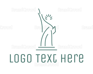 New York - Lady Liberty Outline logo design