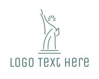 New York - New York Statue of Liberty logo design