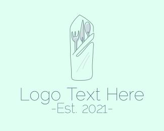 Minimalist - Minimalist Cutlery Restaurant logo design