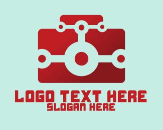 Digital Camera - Red Digital Camera logo design