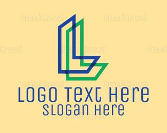 Outlines - Letter L logo design