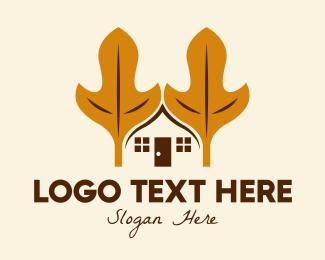 Suburbs - Autumn Leaf House  logo design