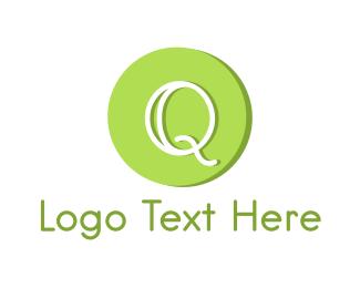 Lime - Green Q  logo design