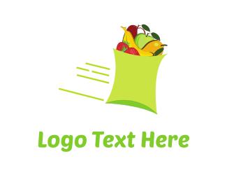 Supermarket - Fast Fruit logo design
