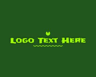 Toad - Frog Pond Wordmark logo design