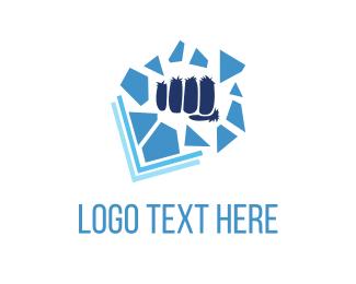 Pieces - Blue Punch logo design