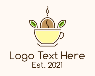 Roasted - Organic Coffee Seed logo design