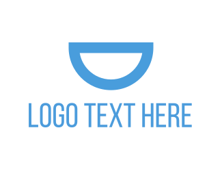 Dental - Blue Semi Circle logo design