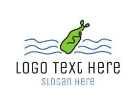 Communications - Message In A Bottle logo design