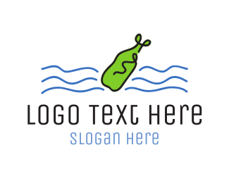 Hand Drawn - Message In A Bottle logo design